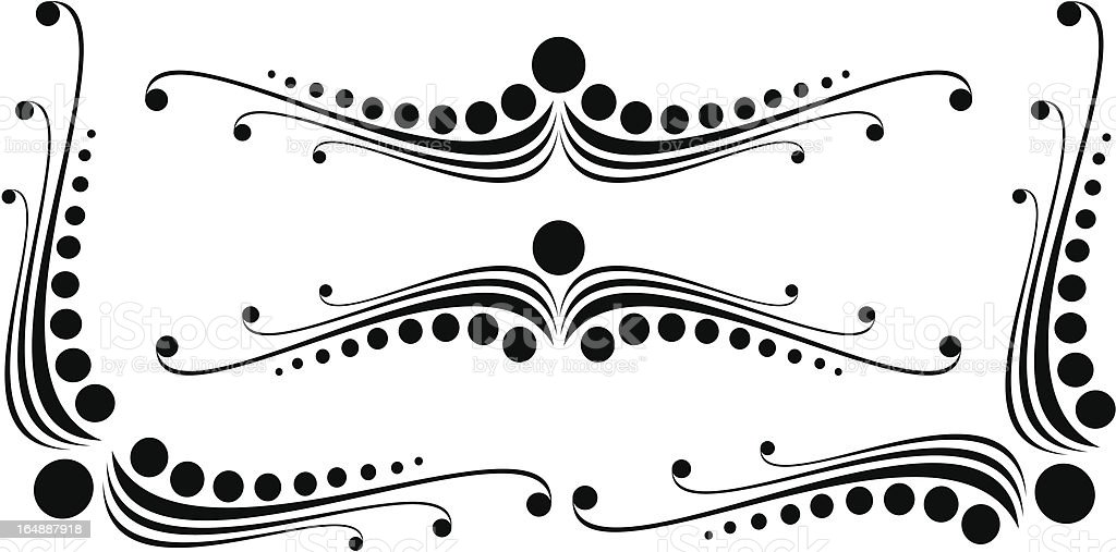 abstract calligraphy royalty-free stock vector art