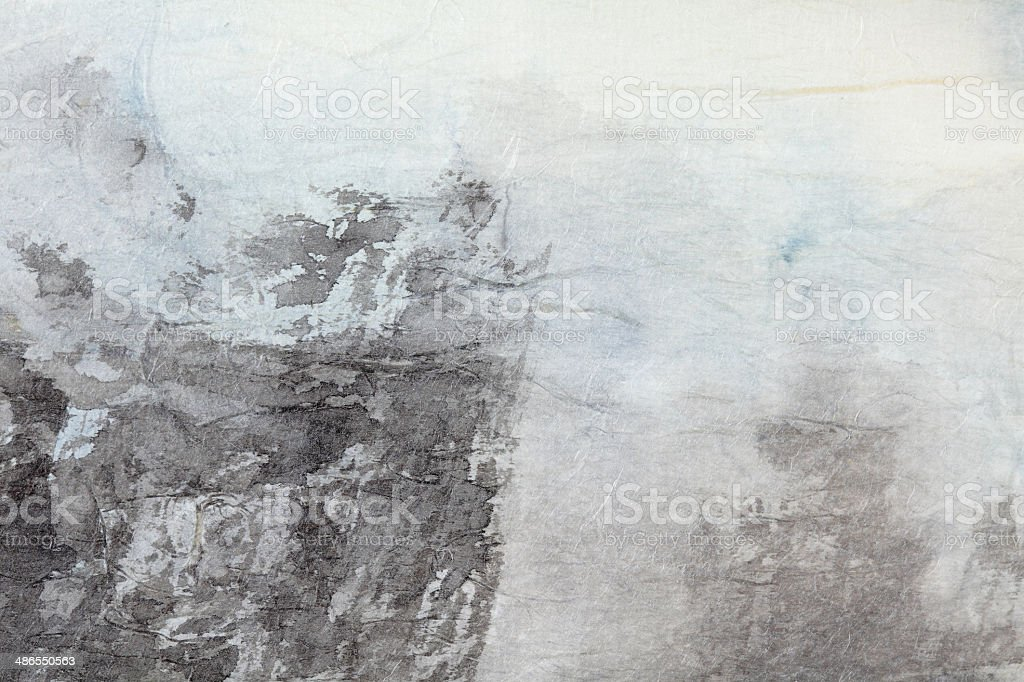 abstract Chinese painting art on grey paper vector art illustration