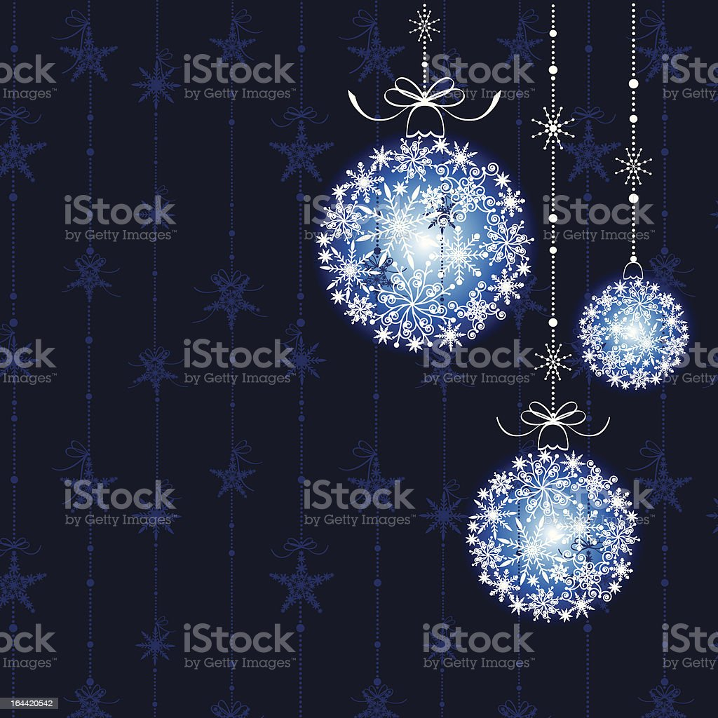 Abstract Christmas balls on seamless pattern background royalty-free stock vector art