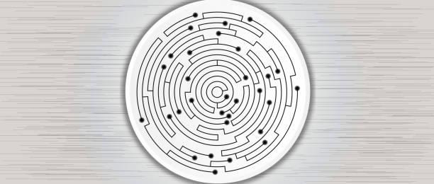 抽象電路技術業務背景向量藝術插圖