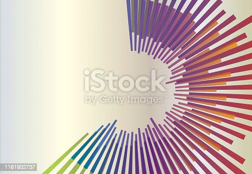 Abstract circular geometric background