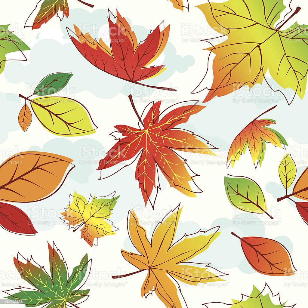 Abstract colorful autumn leaves royalty-free stock vector art