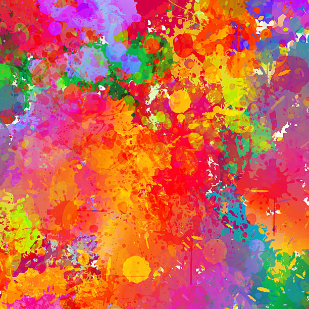 abstract colorful splash background. - graffiti backgrounds stock illustrations, clip art, cartoons, & icons