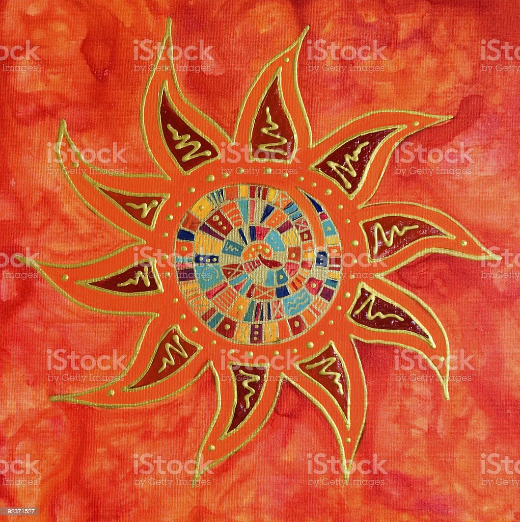 Abstract colorful sun painting royalty-free abstract colorful sun painting stock vector art & more images of abstract