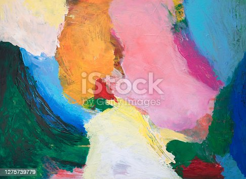 Bold colors creative abstract colorful background with textures and brush strokes on canvas. My own work.