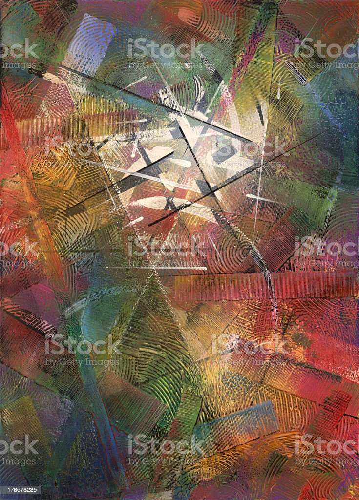 Abstract colorfully painted background royalty-free stock vector art