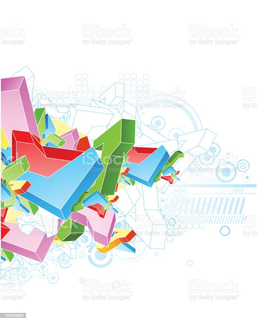 Abstract colourful shapes royalty-free stock vector art