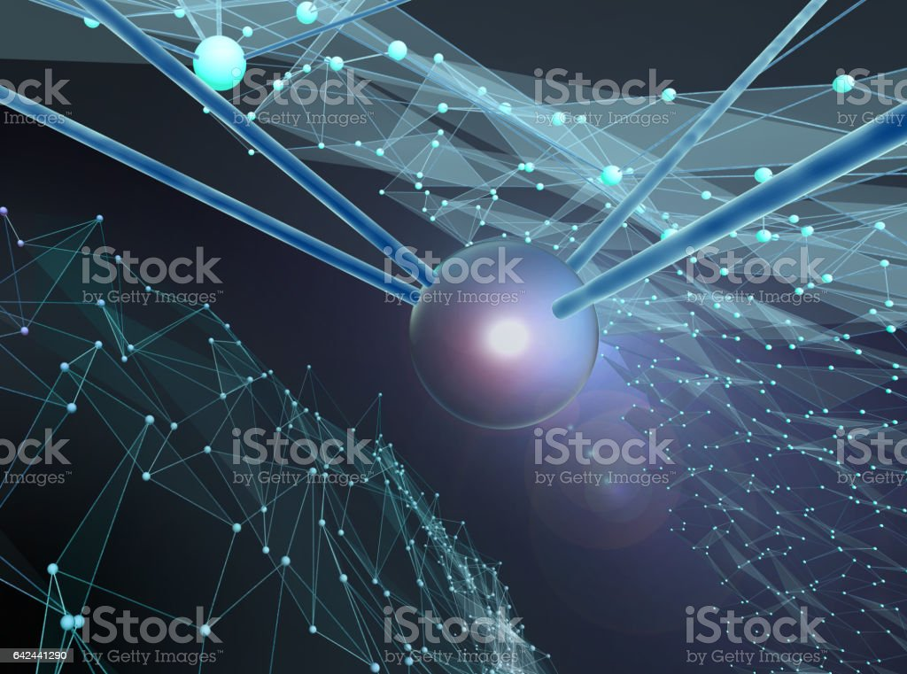 abstract composition on a theme of Science, Technology and Communications vector art illustration
