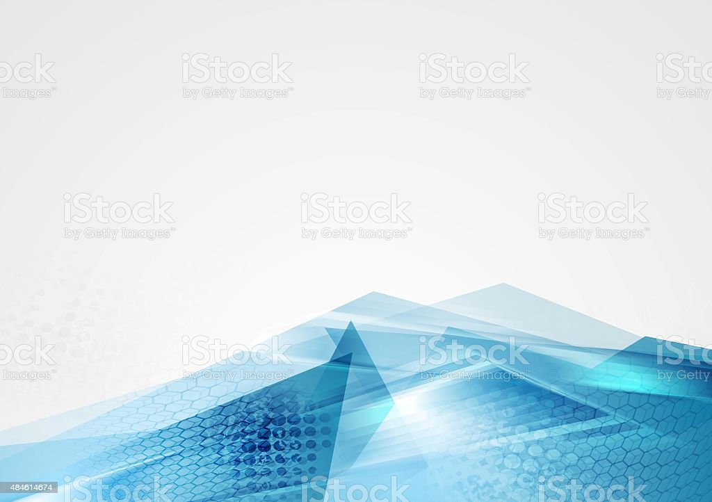 Abstract corporate blue modern background vector art illustration
