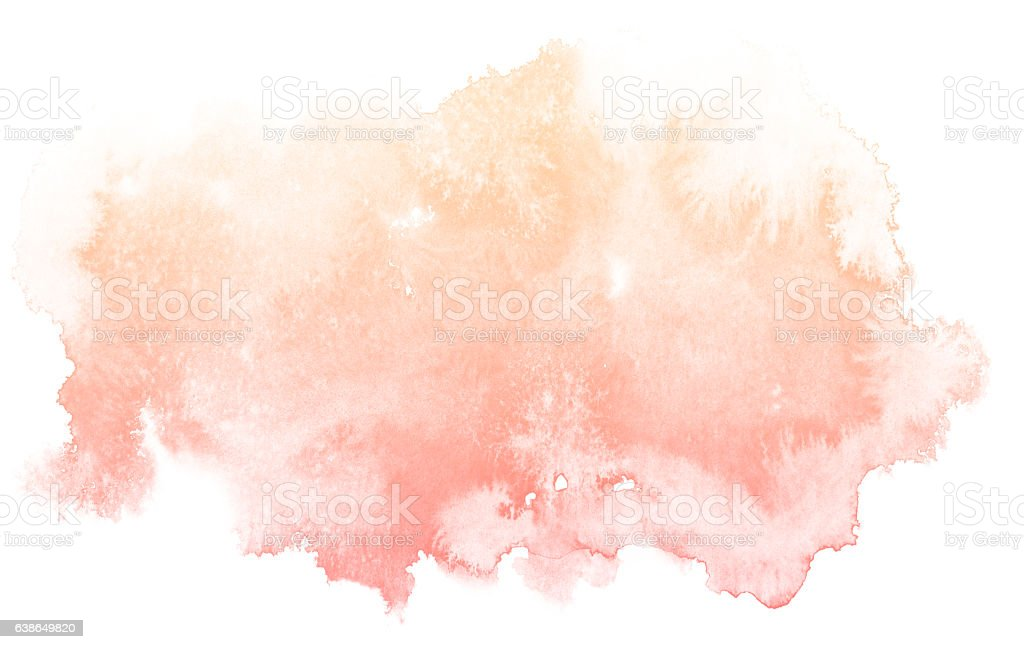 Abstract cream watercolor background. - Illustration vectorielle
