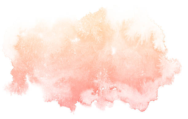 abstract cream watercolor background. - watercolor background stock illustrations, clip art, cartoons, & icons