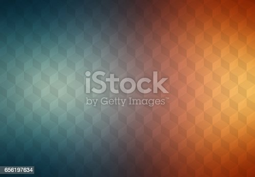 istock Abstract cubes retro styled colorful background 656197634