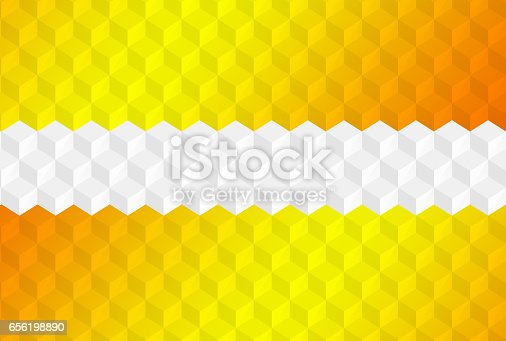 istock Abstract cubes retro styled colorful background 656198890
