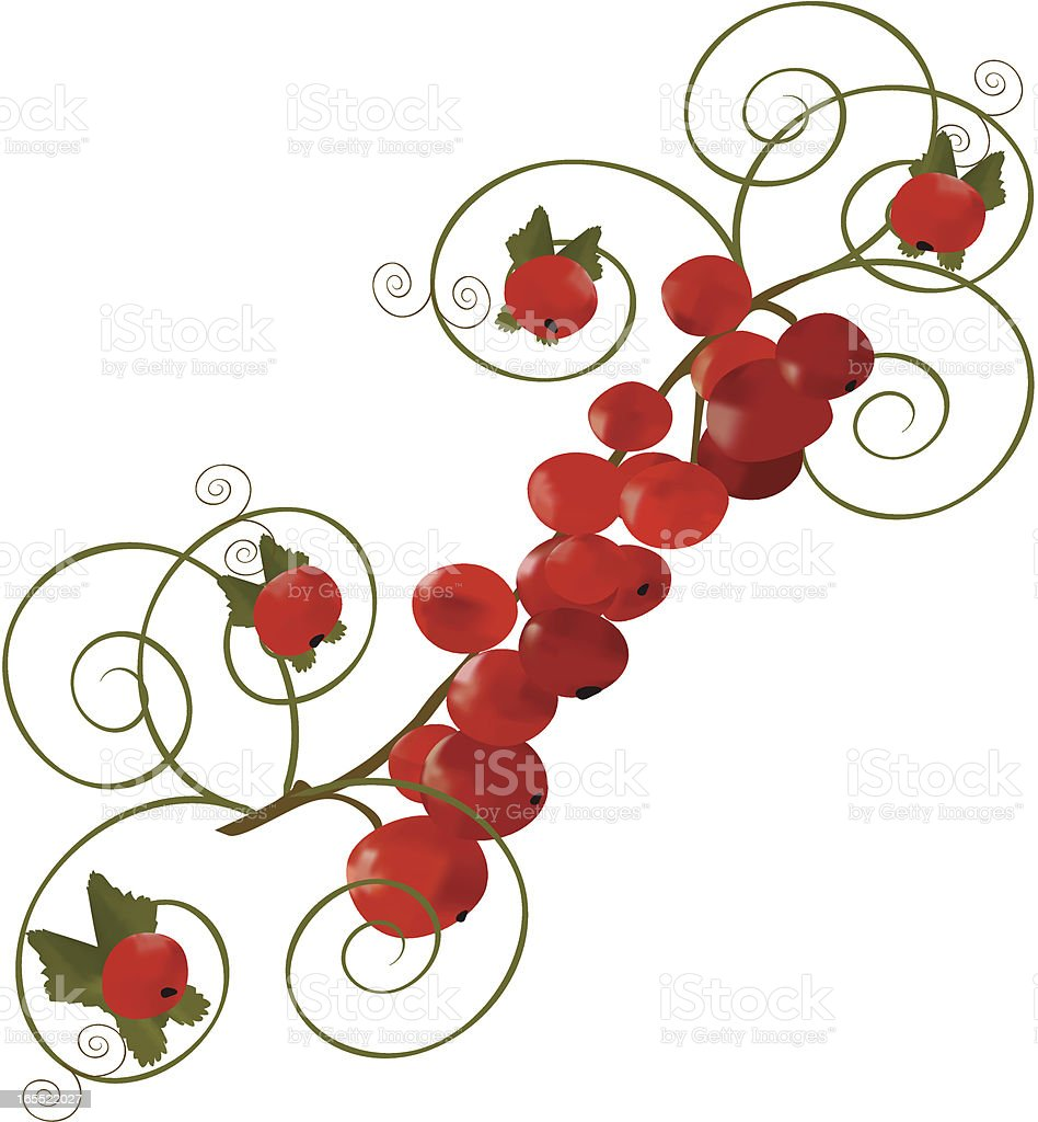 Abstract Currant royalty-free stock vector art