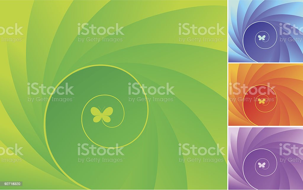 Abstract design with butterflies. royalty-free stock vector art