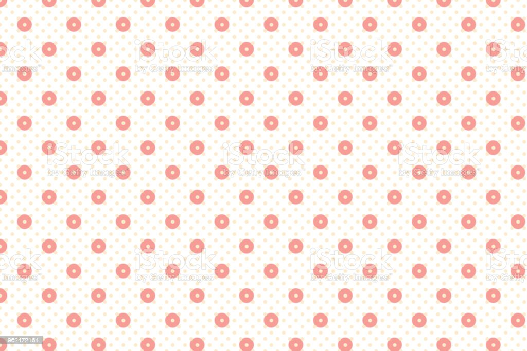 Abstract dot and circle geometric shape pattern with old rose pastel colour vector art illustration