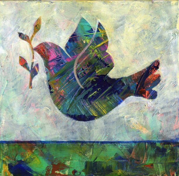 abstrakcyjny gołąb - judaizm stock illustrations