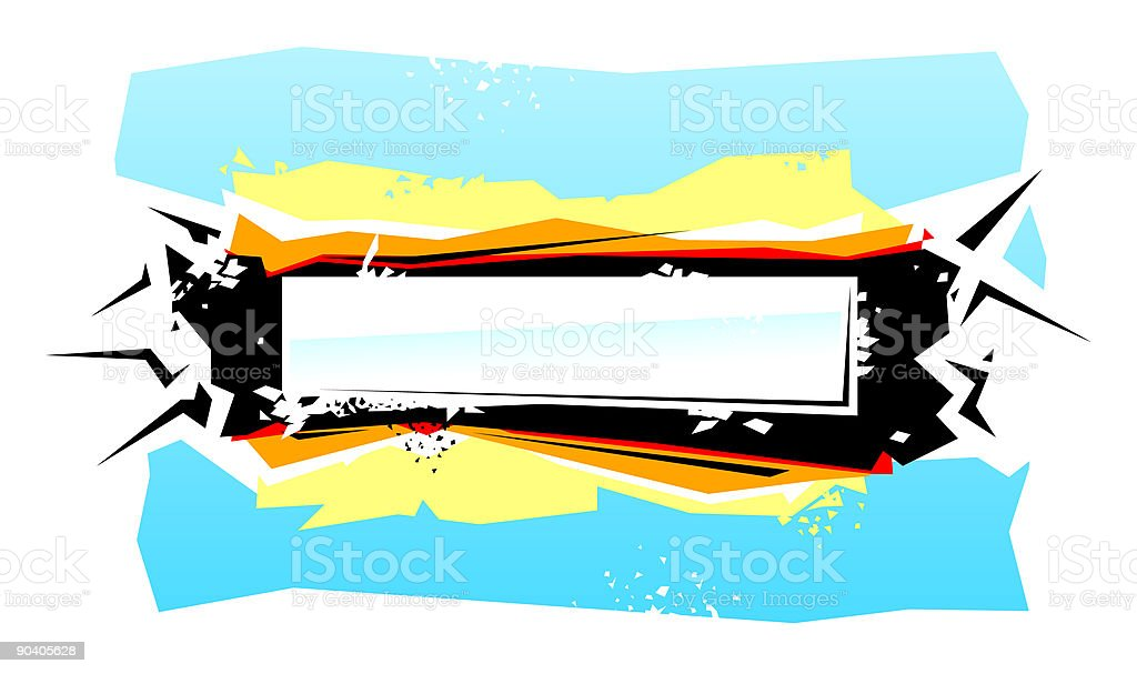 Abstract edgy banner royalty-free abstract edgy banner stock vector art & more images of abstract