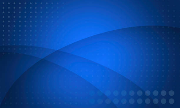 abstract electric blue background with overlapping curved shapes - blue background stock illustrations