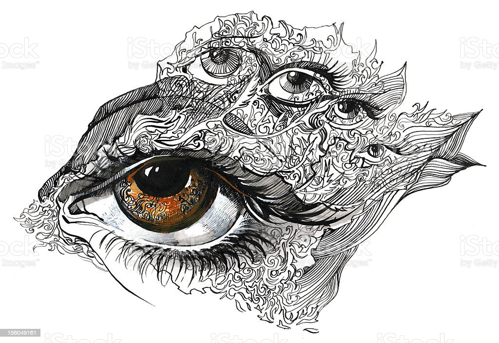 Abstract Eyes Stock Illustration Download Image Now Istock