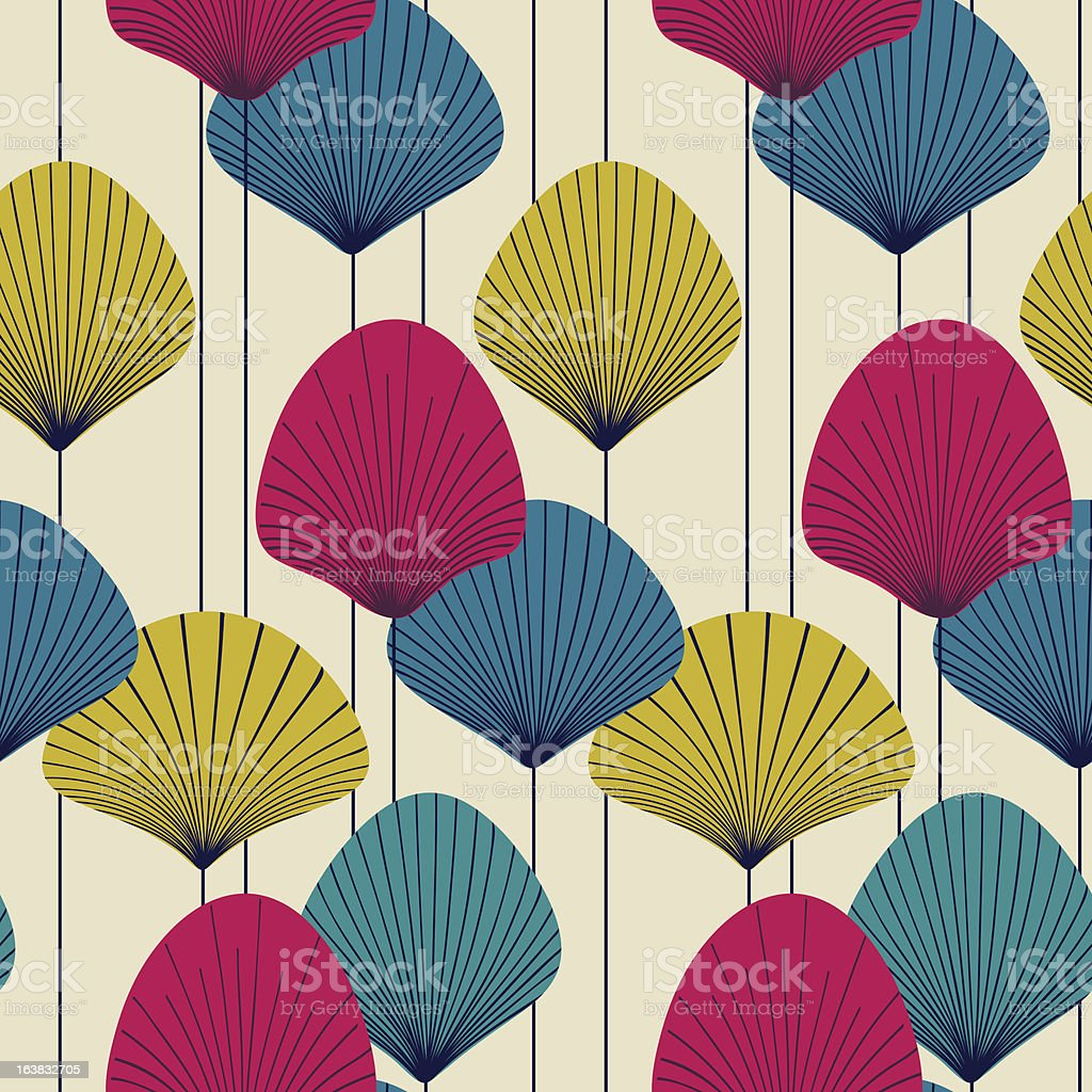 Abstract fans royalty-free stock vector art