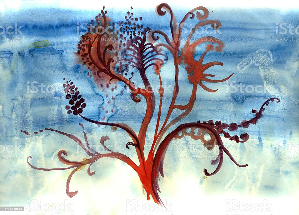 abstract flora vector art illustration