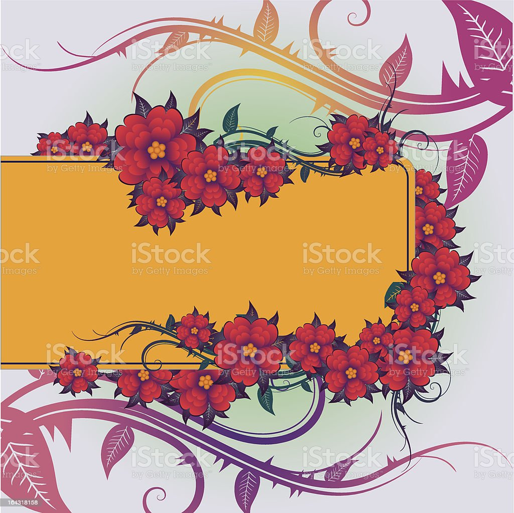 abstract floral backround royalty-free stock vector art