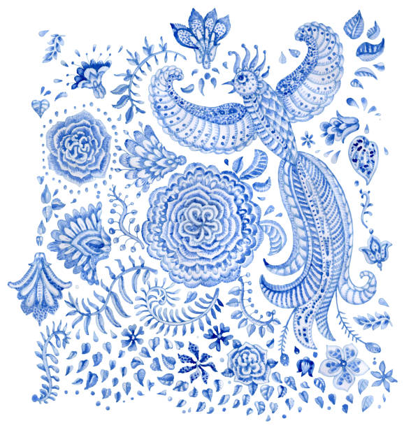 Best Batik Painting Illustrations, Royalty-Free Vector