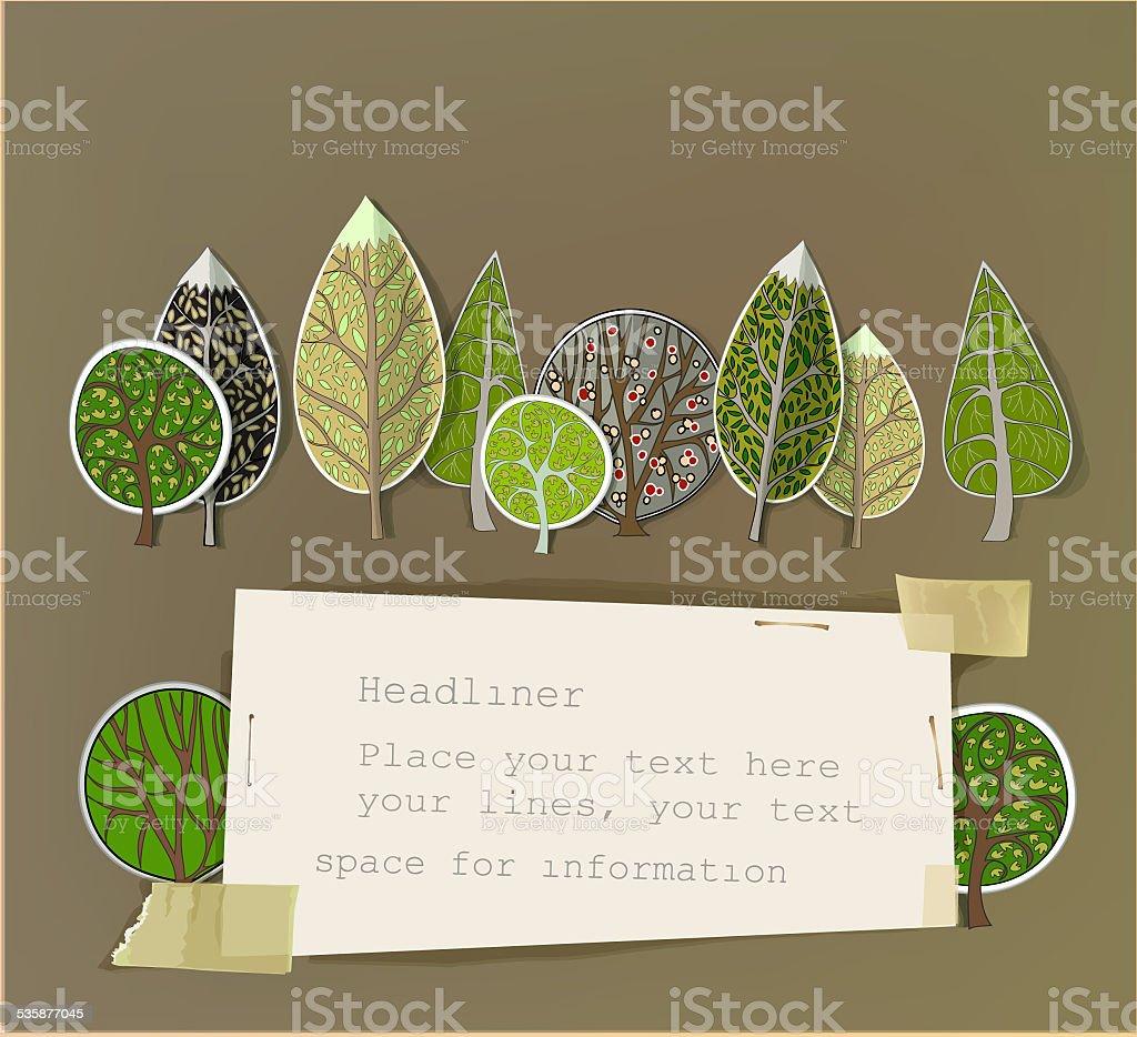 抽象的な紙の背景の森 のイラスト素材 535877045 | istock