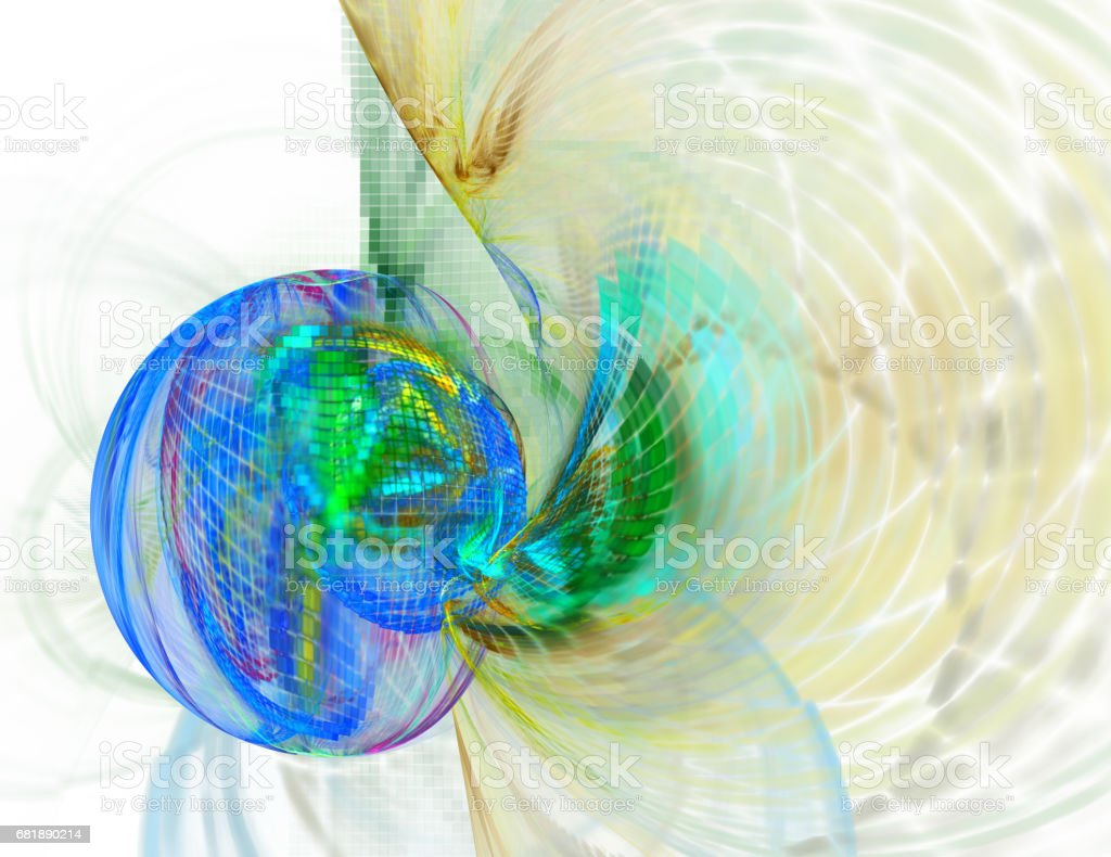 Abstract fractal illustration for creative design vector art illustration