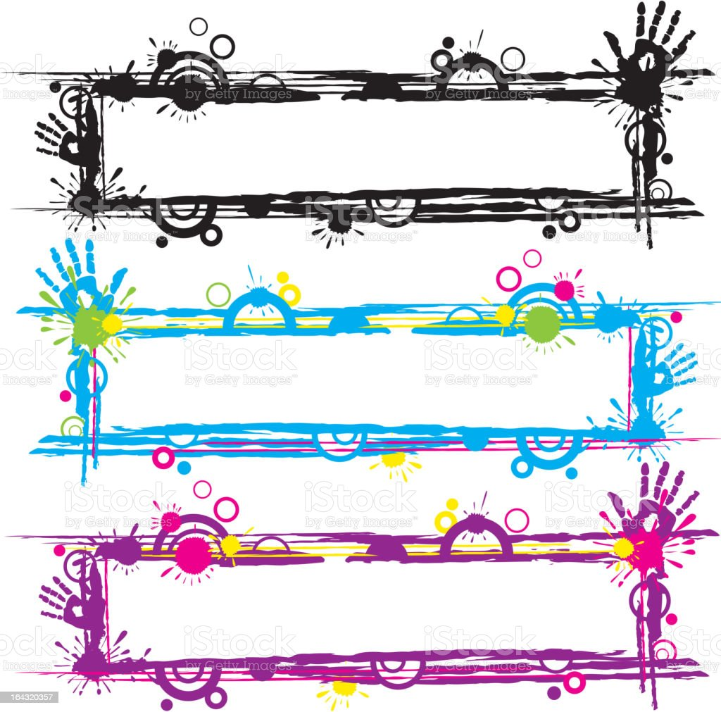 abstract frames royalty-free stock vector art