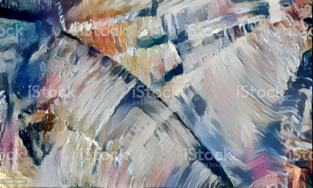 Fond Futuriste Abstrait Avec Une Texture De Peinture A Lhuile Art Moderne Vecteurs Libres De Droits Et Plus D Images Vectorielles De Abstrait Istock