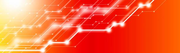 抽象未來電路電腦互聯網技術向量藝術插圖