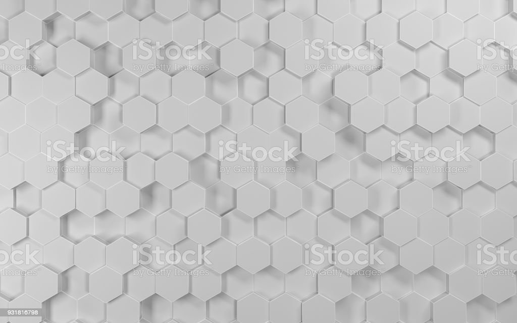 Abstract futuristic hexagon vector art illustration