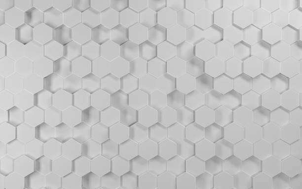 Abstract futuristic hexagon vector art illustration