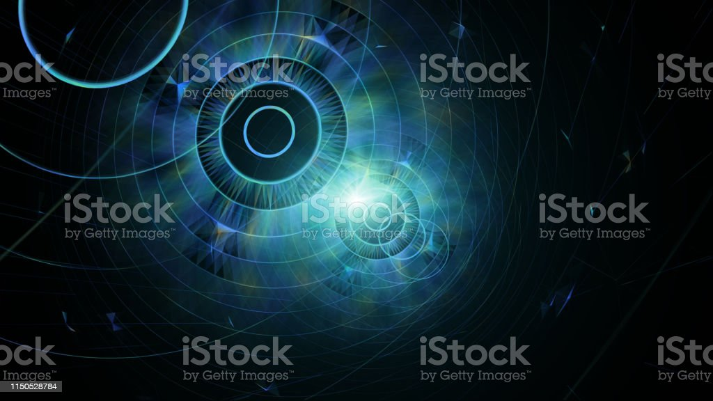 Abstract Geometric Background Scifi Futuristic And Outer