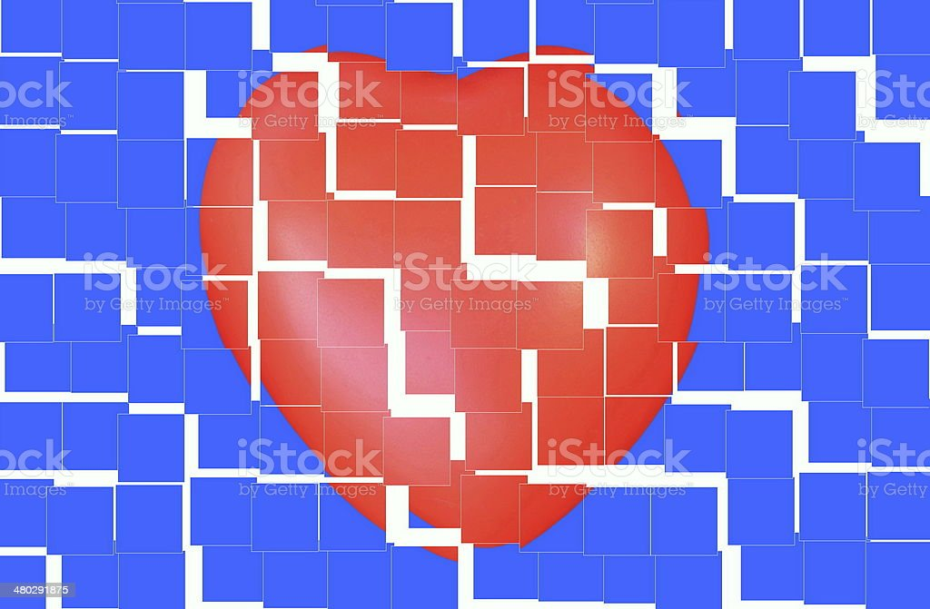 Abstract geometric background with  broken heart royalty-free stock vector art