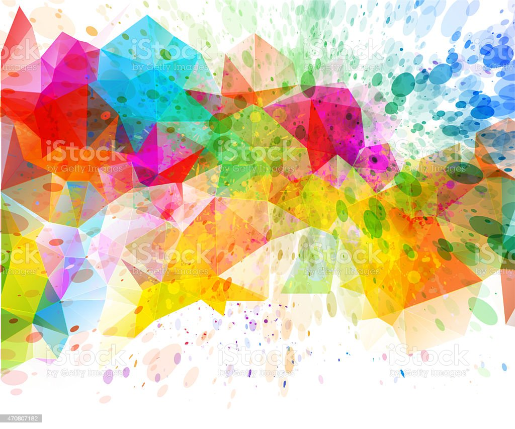 abstract geometric color splash background stock vector