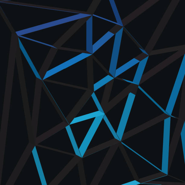 3D Abstract Geometric Lines vector art illustration