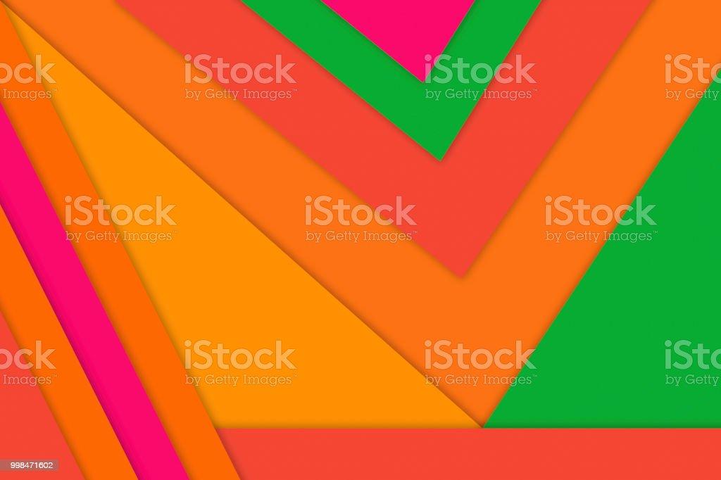 Fond De Formes Geometriques Ou De Papier Peint En Vert Rose Orange