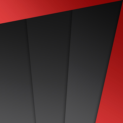 Abstract Geometrical Shape Red Grey Black Background Stock Illustration - Download Image Now