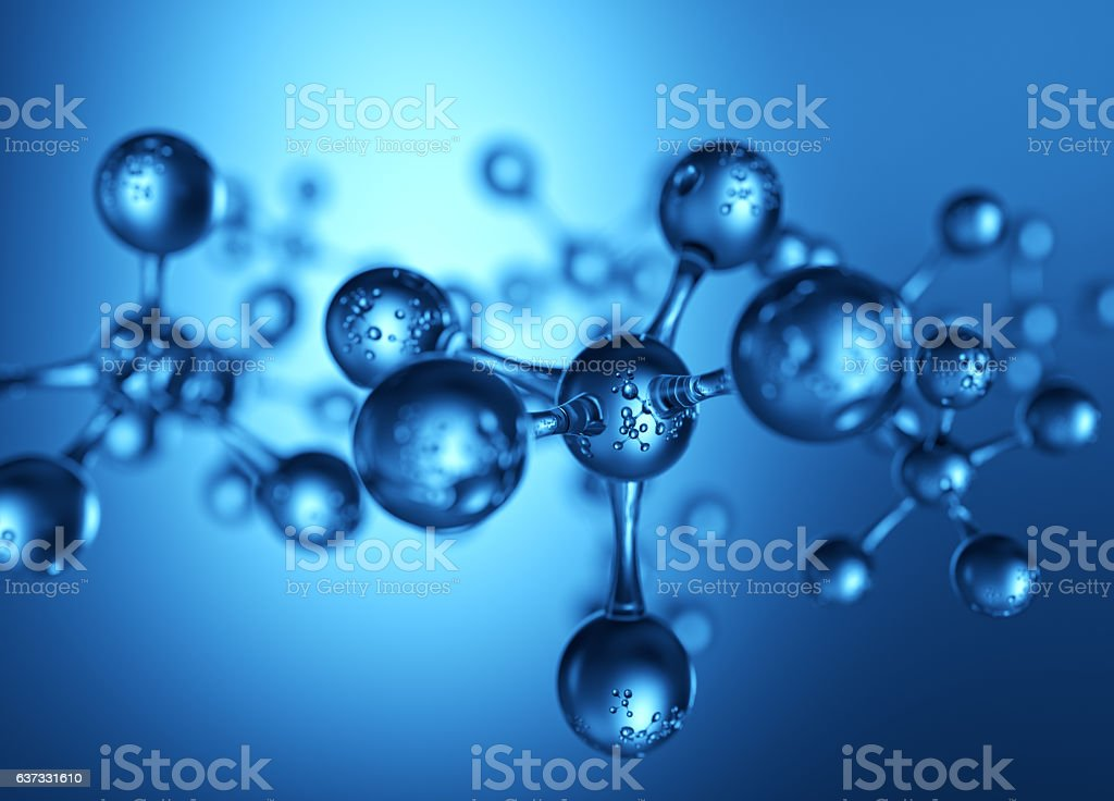 Abstract Glass Molecule or Atom vector art illustration