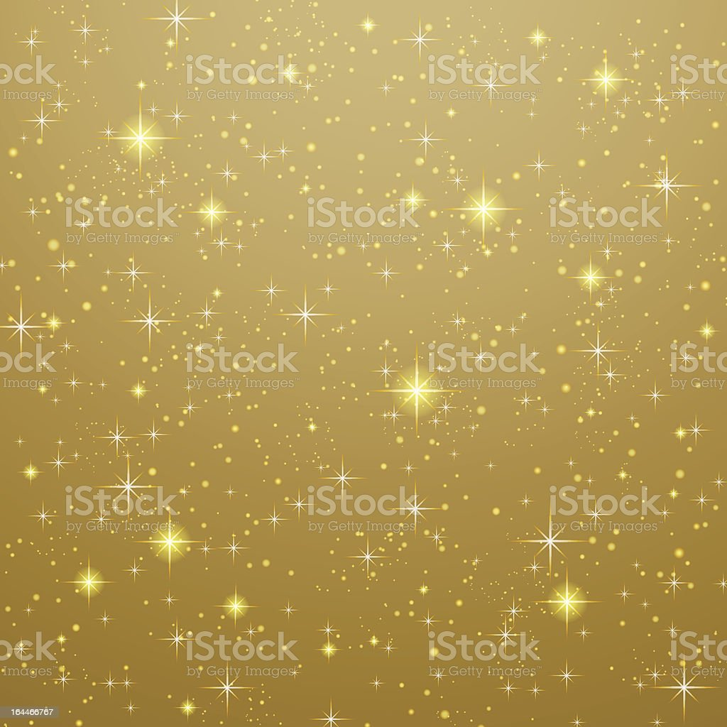 Abstract golden background stars royalty-free stock vector art
