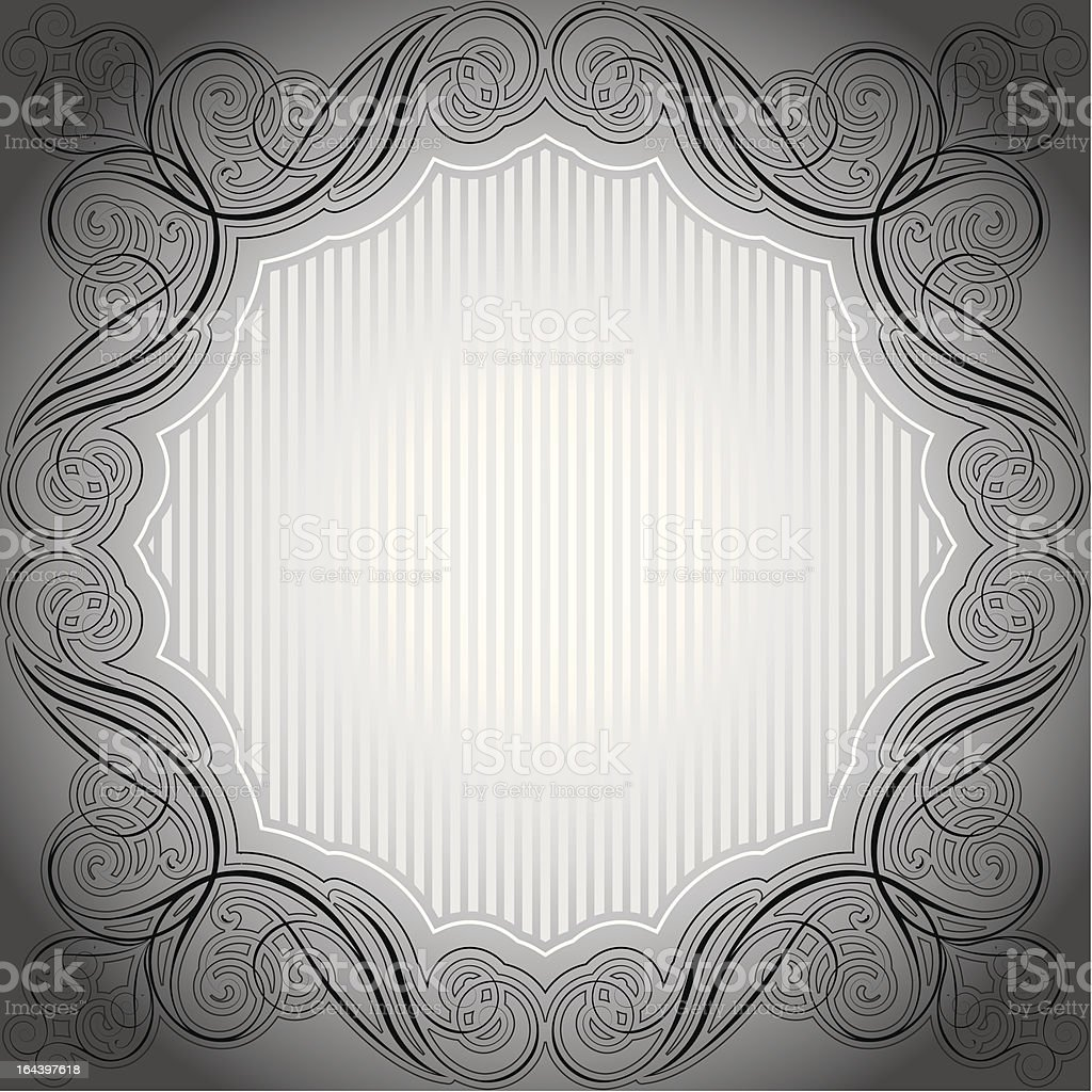 Abstract gray frame royalty-free stock vector art