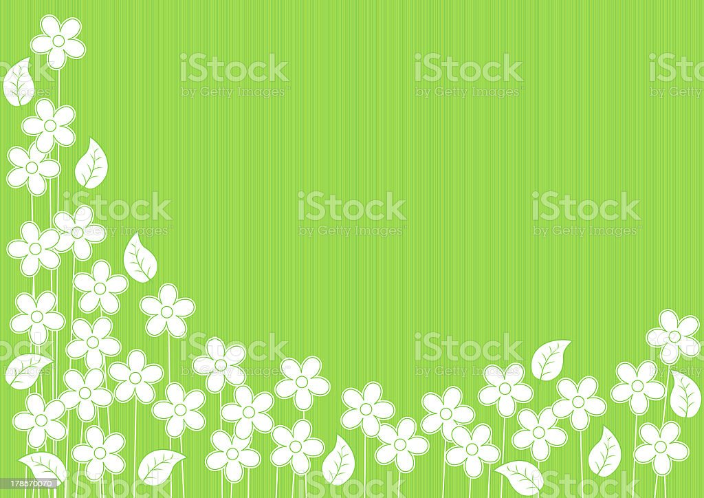 Astratto Sfondo Verde Con Fiori Immagini Vettoriali Stock E Altre