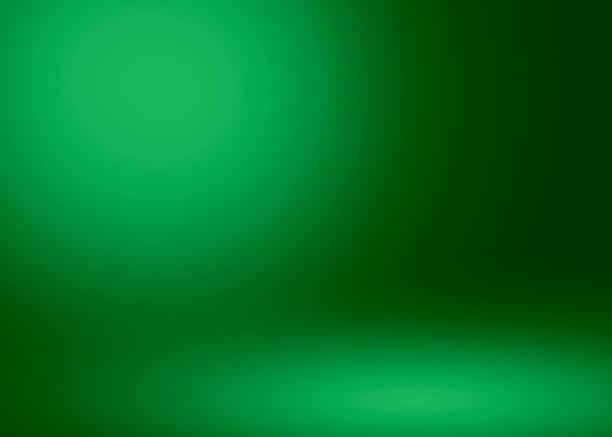 stockillustraties, clipart, cartoons en iconen met abstracte groene kamer studio achtergrond verlichting. - green background
