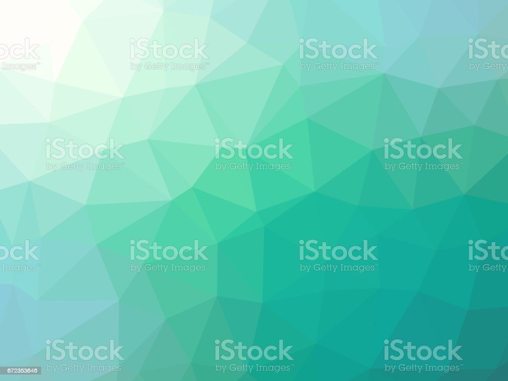 Abstract green teal gradient background vector art illustration