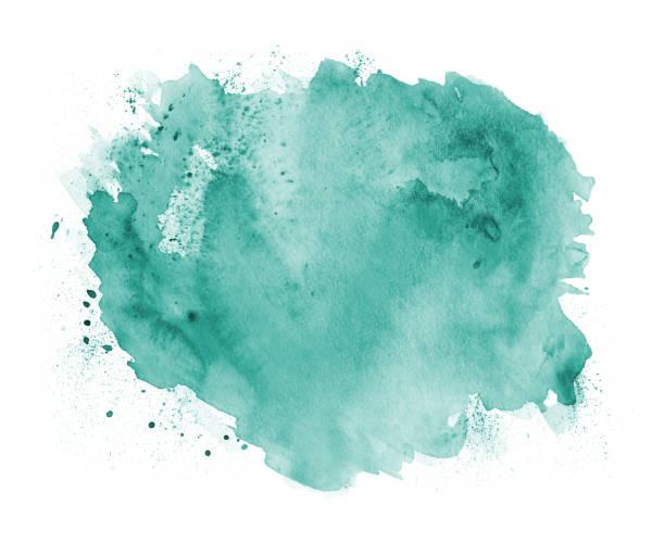 Acuarela de fondo abstracto verde - ilustración de arte vectorial