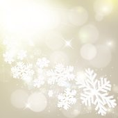 """""""Abstract grey winter background with snowflakes and stars. Vector eps10 illustration with transparency effects: Blending modes, Opacity masks"""""""