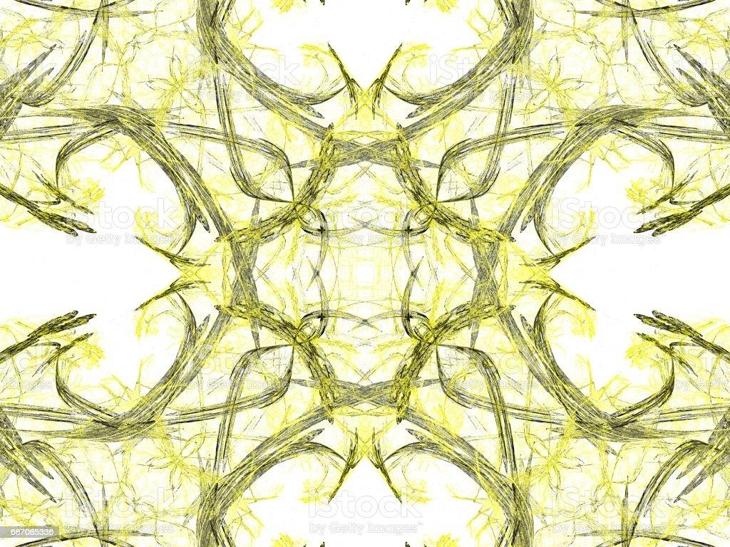 Abstract Grunge schmutzig gelb symmetrisches Muster Lizenzfreies abstract grunge schmutzig gelb symmetrisches muster stock vektor art und mehr bilder von abstrakt